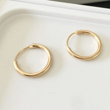 2019 With Fashion Personality Circle Earrings Brass Men And Women Can Wear Earrings Jewelry Wholesale Gold Silver Ear Rings(China)