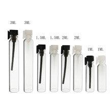 12x1 мл 2 мл 3 мл мини стеклянные флаконы для духов 2cc стеклянные флаконы для парфума Пробник 3cc Пробник духов пробирка бутылка с капельным стоппером