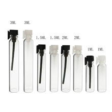 12 x 1ml 2ml 3ml mini Glass Perfume Vials 2cc Glass Bottle Parfum Sample Vial 3cc Tester Perfume Tube Bottle with Drop Stopper цена
