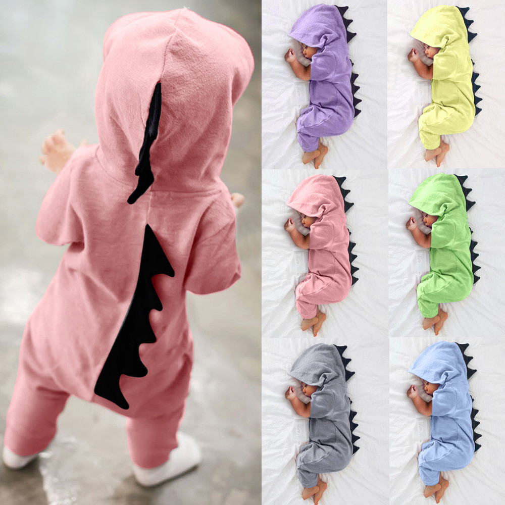 Baby Clothes Hooded Dinosaur Jumpsuit Ropa Bebe Bebek Tulum Newborn Infant Baby Boy Girl Onesie Romper Jumpsuit Outfits