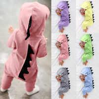 Roupas de bebê Com Capuz Dinossauro Macacão ropa bebe bebek tulum onesie Romper Do Bebê Recém-nascido Da Menina do Menino Macacão Roupas