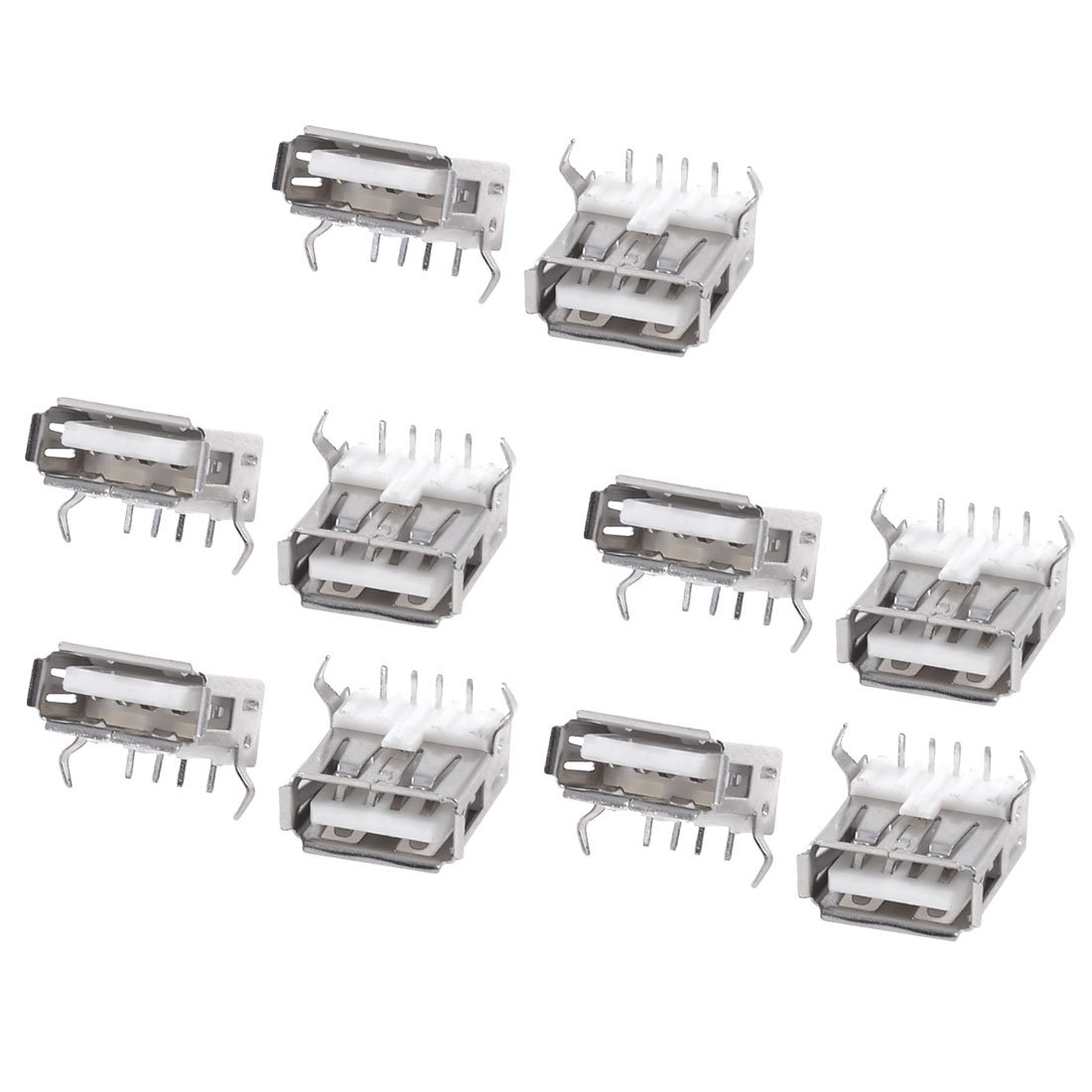 Dhdl 10pcs Usb Type A Standard Port Female Solder Jacks
