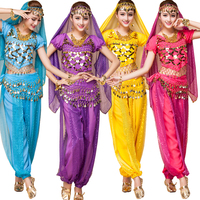 3 Pieces India Egypt Belly Dance Costumes Bollywood Costumes Indian Dress Bellydance Dress Lady Belly Dancing Stage wear Outfits