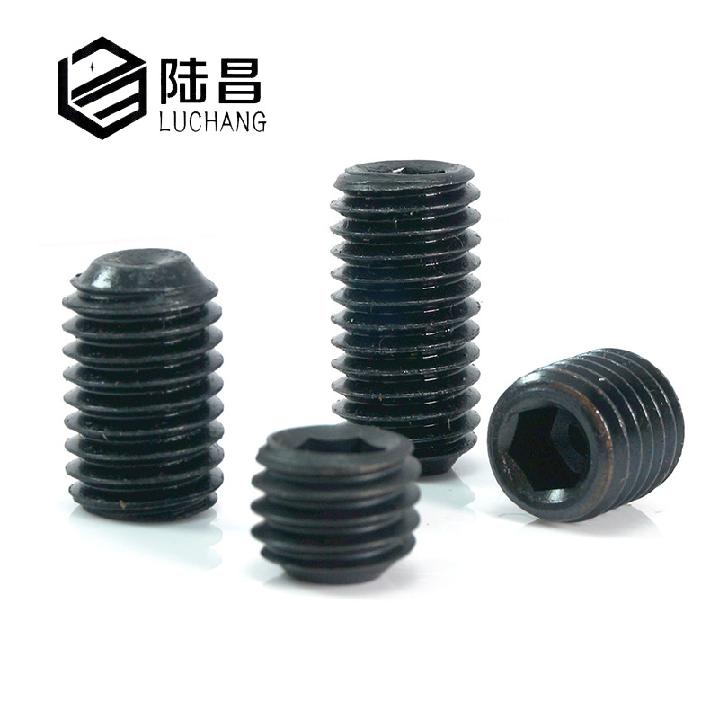Luchang 100PCS M2 M2.5 M3 M4 12.9 Alloy Steel Metric Thread Cup Point Grub Screws Inner Hexagon Socket Set Machine Screw Bolts 50pcs m2 m2 5 m3 m4 din916 black carbon steel metric thread grub screws inner hexagon socket set screw hw025