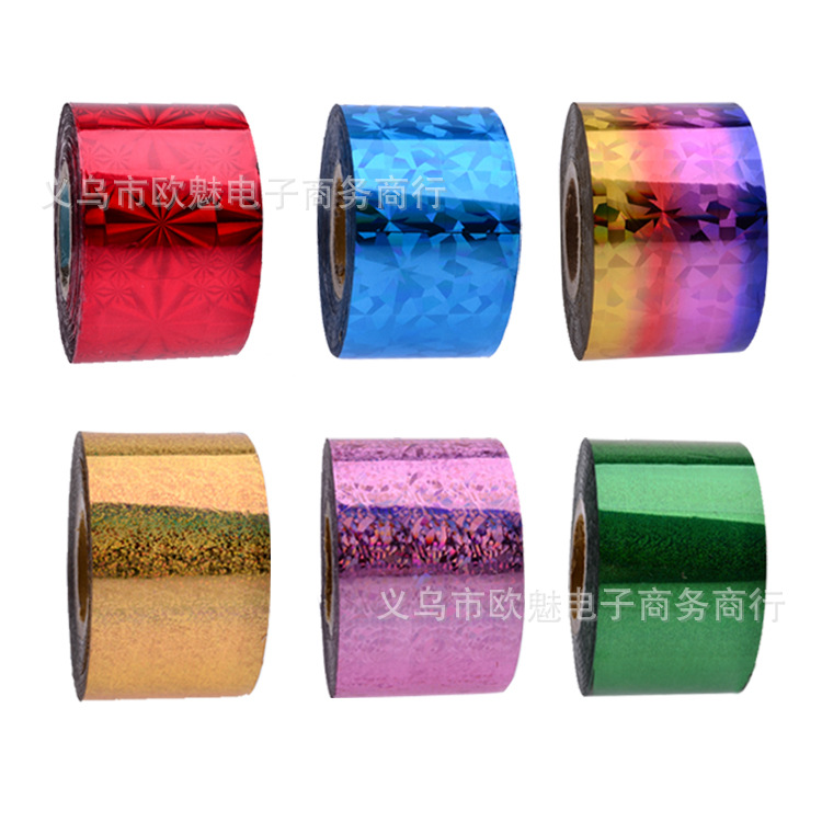 1 Roll 4*120cm 66 types Laser Metal Starry Sky Nail Art Sticker Designs Nail Wraps DIY N ...