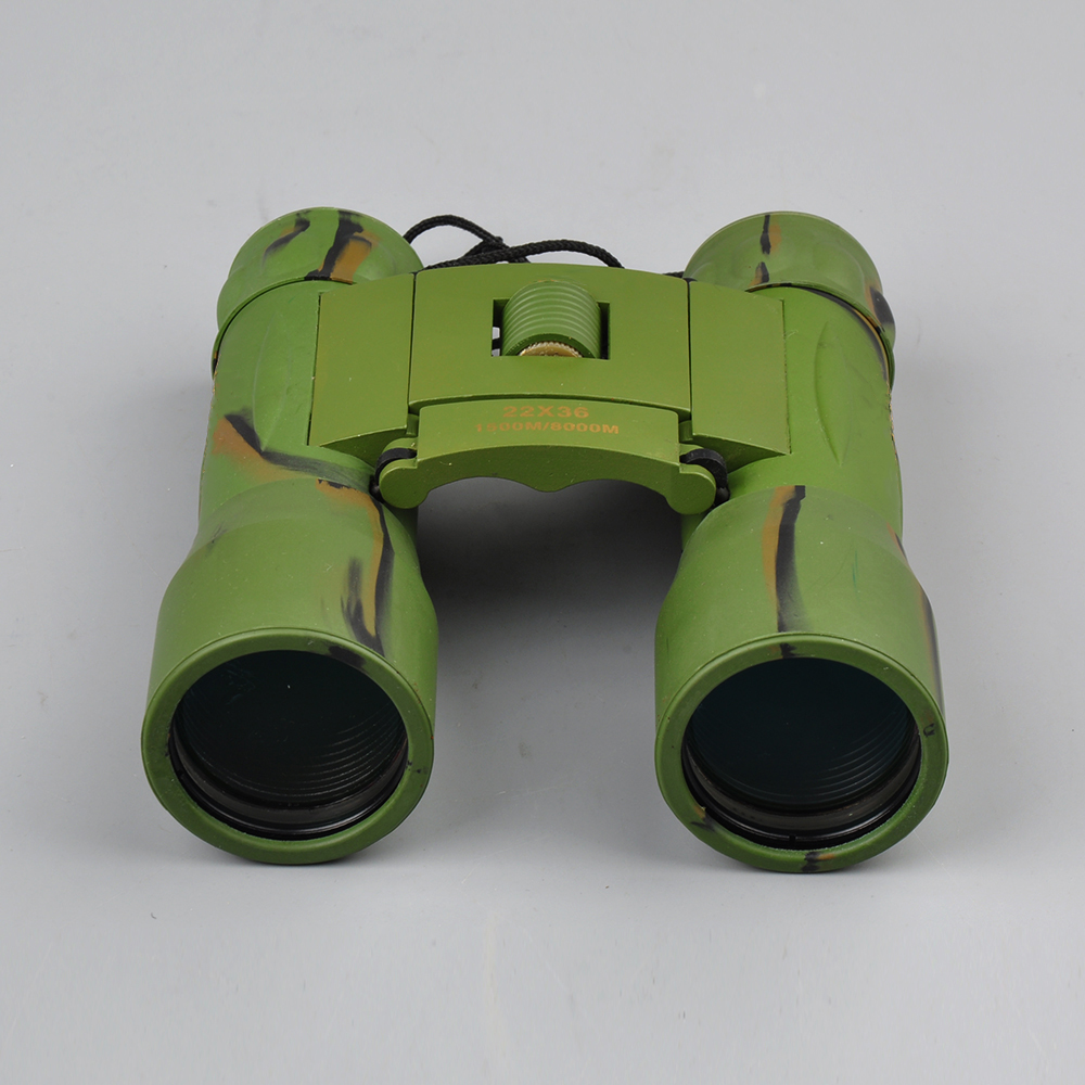 22x36 Binoculars Telescope Folding Roof Prism with Long Range 1500M/8000M in Army Green Wide Vision Professional Hunting