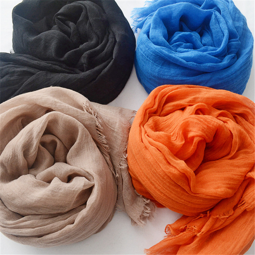 1pcs Women Overseize Plain Tassel Viscose Shawl Scarf High Quality Hijabs and Wraps Thick Pashmina Stole Bufandas Muslim Snood(China)