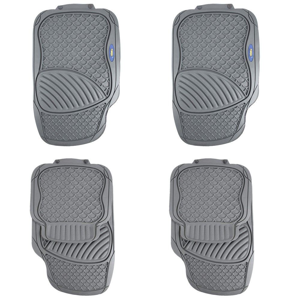 Rubber floor mats thailand - 4 Piece Car Rubber Floor Mat Car Styling The Four Seasons General Driver Seat Ridged Water