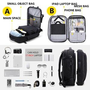Image 4 - Grande capacidade 17 polegada portátil mochila multifuncional à prova dwaterproof água dos homens de negócios viagem volta pacote preto masculino qualidade sacos computador