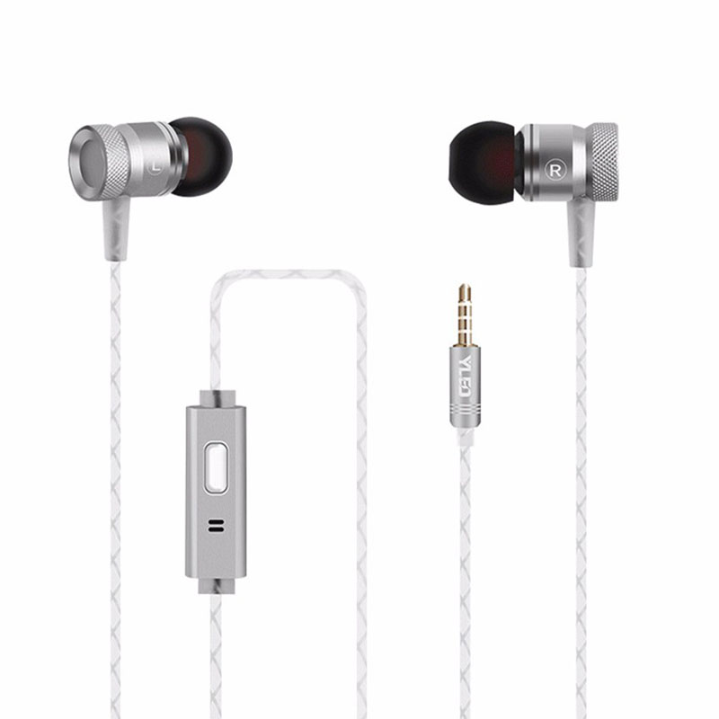 2018 3.5mm Metal Bass In-Earphone G63 Noise Cancelling Heavy earbuds Resist <font><b>Twine</b></font> With Microphone Headset for Andriod Xiaomi
