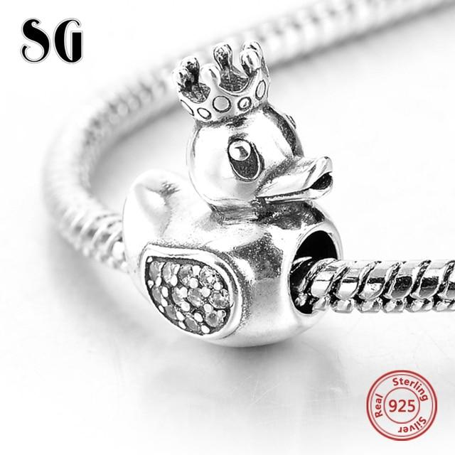 Skull & Crown Charm Bracelet Bead - Sterling Silver 925 aRqY7h