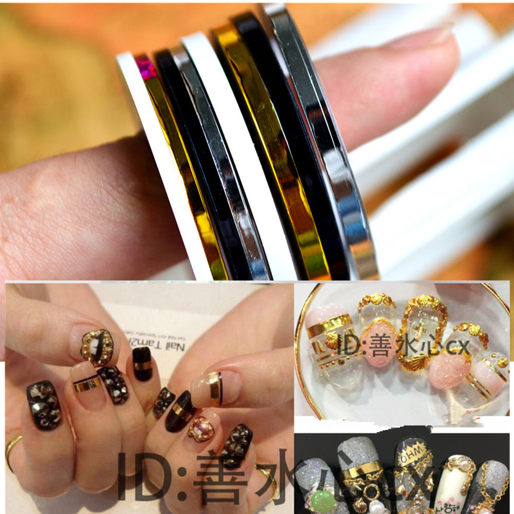 1pcs 2mm 3mm Beauty Roll Stripping Sticker Foils Nail Art Tape Line