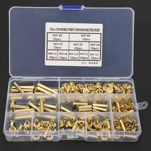 180Pcs M5*8-60mm Screws Set Photo Album Blinding Book Butt Docking Rivet Assortment Kit Carbon Steel Wood