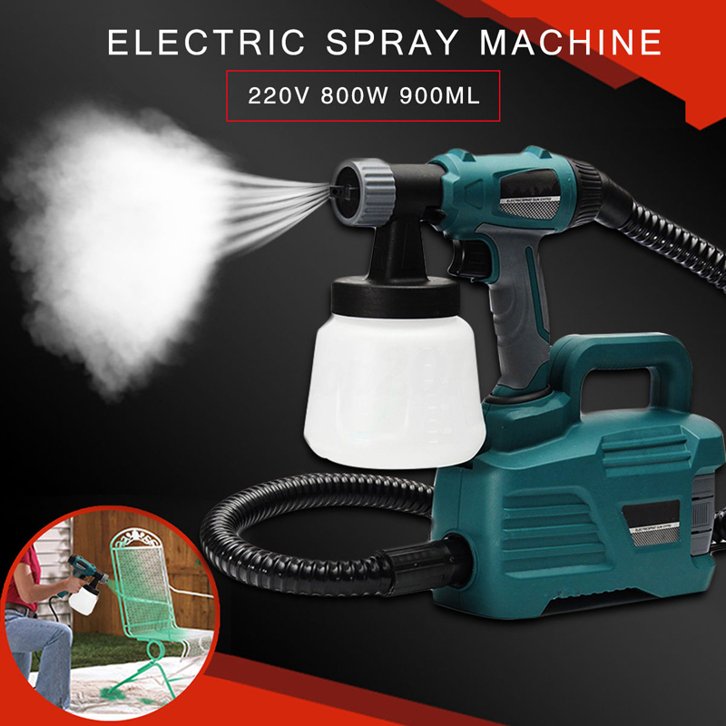 800W Electric Painter Spray Gun 900ML Latex Paint Sprayer 1.8m Spray Hose HVLP Paint Sprayers House Painting Machine Power Tools fujiwara electric spray gun latex paint sprayer paint spray gun paint painting tools pneumatic high atomization 2 5mm