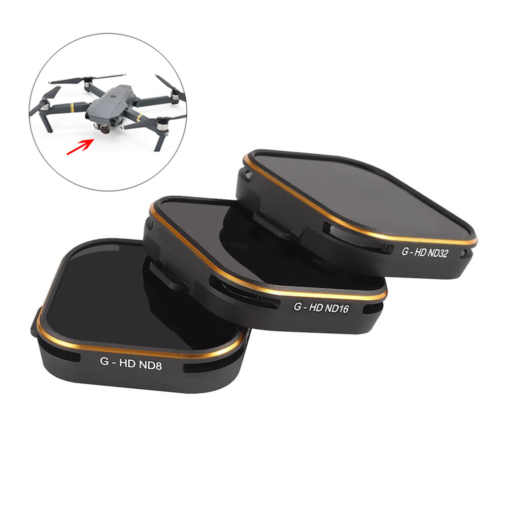 PGYTECH 3pcs Lens Filter Set ND8+ND16+ND32 for GOPRO Hero 5 Camera Accessories M09