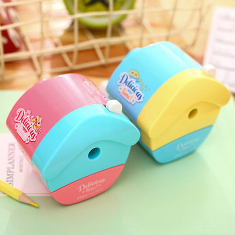 1 Pc Cartoon Little House Plastic Pencil Sharpeners For Kids 96x80x80mm Mechanical Penci ...