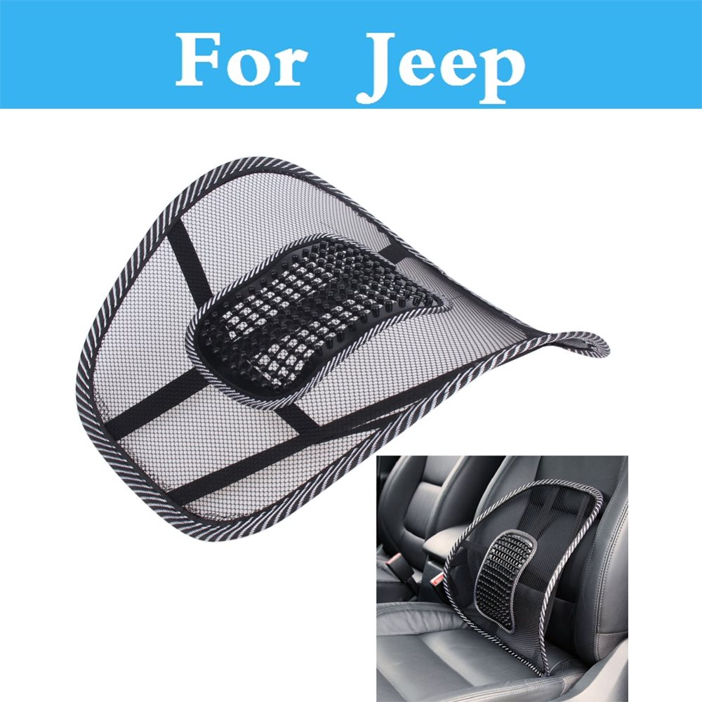 Black Mesh Cloth Car Seat Supports Cushion Lumbar Waist Back Support Lumbar Pillow For font b
