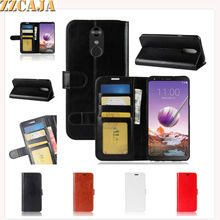ZZCAJA Shell Bag For LG Q7 Q Stylus Case Luxury Business Type PU Leather Wallet
