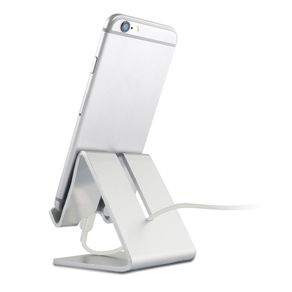 Mobile Phone Accessories Holder Stand For Iphone 8 7 7plus 6s 6 5s 5 Cellphone For Kindle Ebook Aluminum Metal Mobile Phone Tablet Desk 1pc Low Price Mobile Phone Holders & Stands