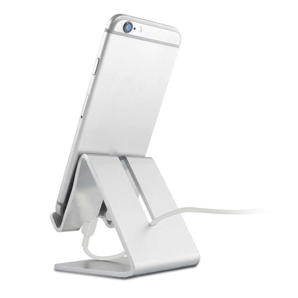 Yeesite universal metal de alumínio do telefone móvel tablet suporte de mesa para o iphone 8 7 plus 6s 6 5S 5 celular para kindle ebook