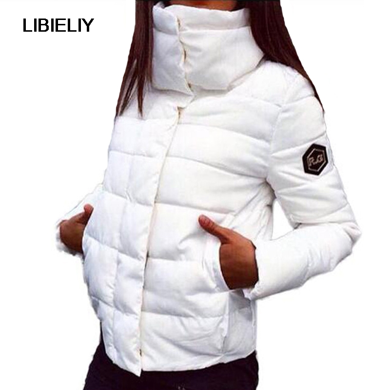 Nice New Fashion Women Winter Coats Short Stand Collar Covered Button Female Padded   Basic     Jacket   Slim Outwears Chaqueta Mujer
