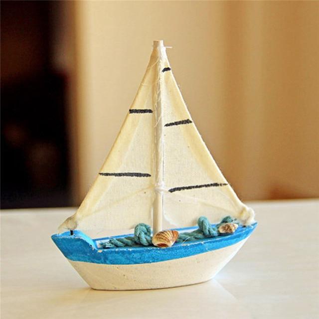 Décoration de maison de bateau bleu en bois nautique marine de style méditerranéen vintage 2