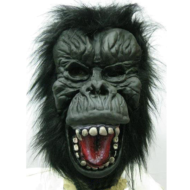Cosplay Halloween Black Orangutan Mask Party Masquerade Monkey Scary Stage Performance 1046