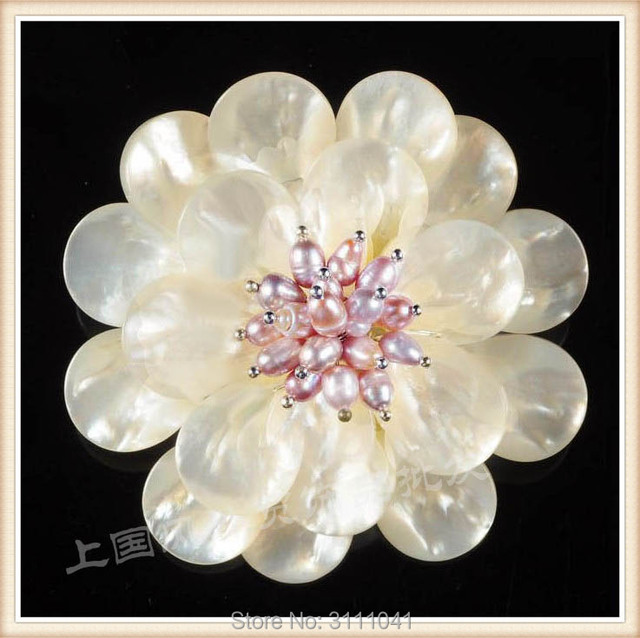 Freshwater pearl shell white flower brooch fppj wholesale beads freshwater pearl shell white flower brooch fppj wholesale beads nature mightylinksfo
