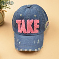 Parent-child baseball cap Women's kid's take denim cap Casual hat Free shipping