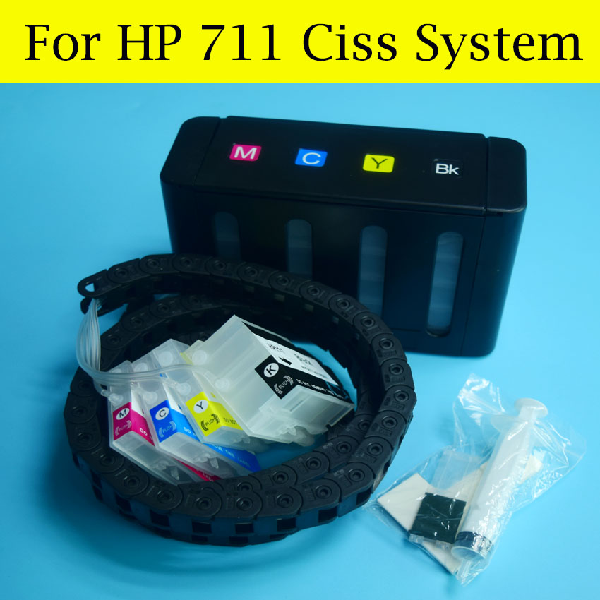 1 Set HP711 CISS Hose Chain CISS System For HP 711 Bulk ink For HP Designjet T120 T520 Printers