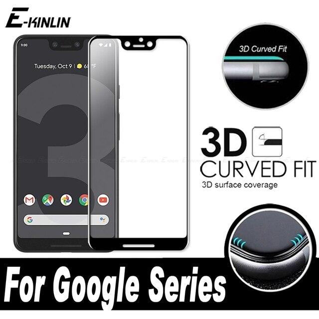 3D Curvo Borda Cobertura Completa Filme Protetor de Tela Temperado Vidro De Proteção Para O Google Pixel 3 3a 2 XL 3XL 2XL vidro temperado