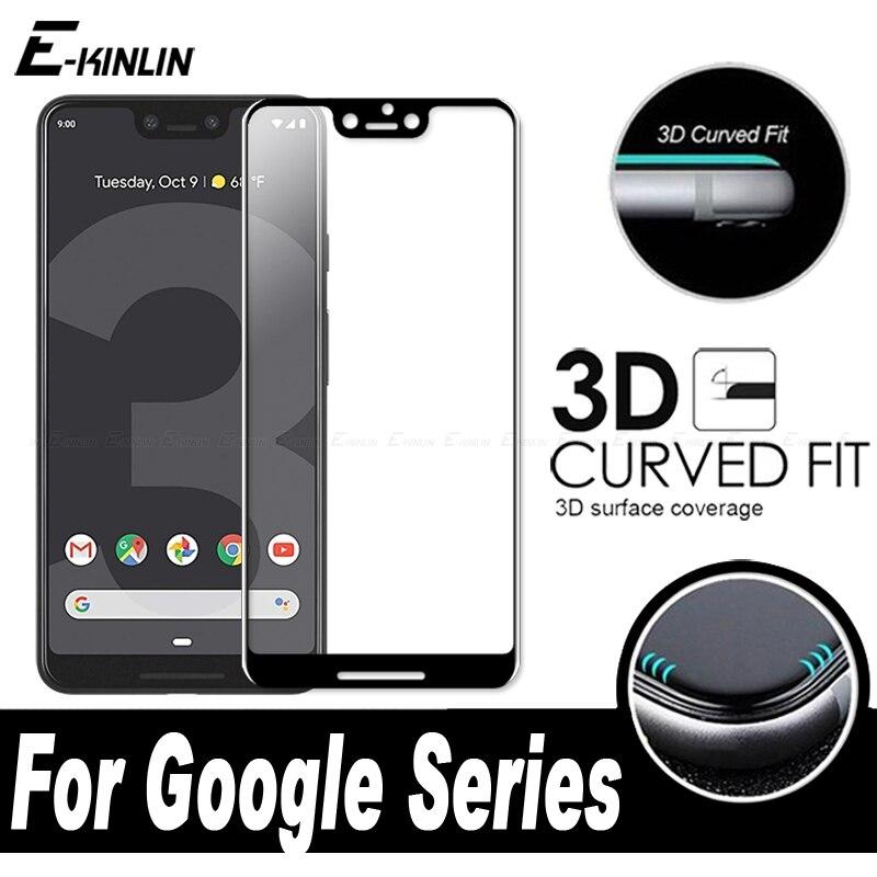 Cubierta completa curvada 3D Protector de pantalla endurecido película de vidrio Protector para Google Pixel 4 3 3a 2 XL 4XL 3XL 2XL Vidrio Templado