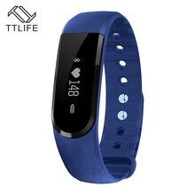 Оригинальный TTLIFE бренд на запястье браслет Интеллектуальный монитор сердечного ритма Смарт-браслет для Android 4.4 IOS 7.0 фитнес-трекер