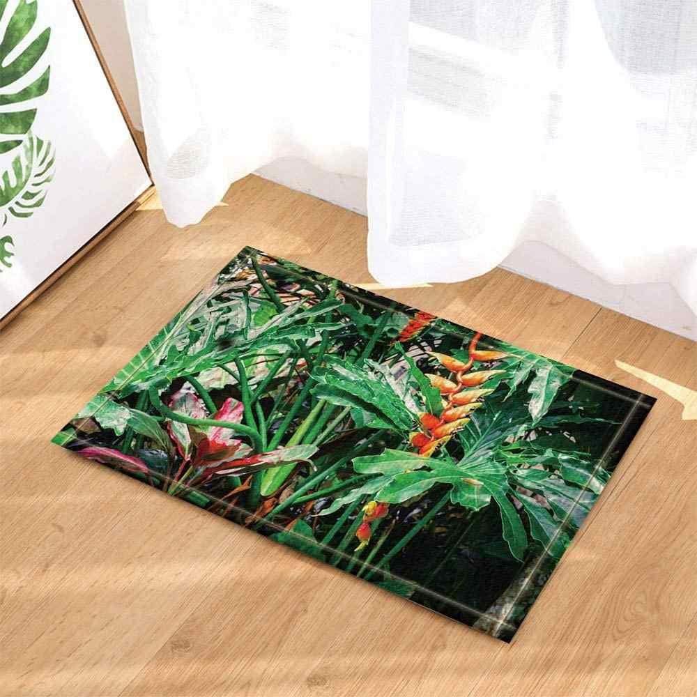 """3D Mangical Flower Design Bathroom Rug Mat Non-Slip Indoor Floor Door Mat 16x24/"""""""