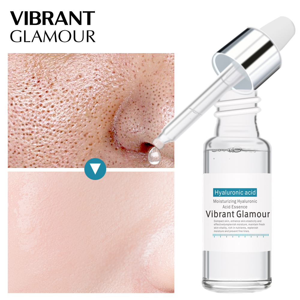 VIBRANT GLAMOUR Hyaluronic Acid Serum Moisturizing Essence Face Cream  Shrink Pore Skin Care Repair Whitening Anti-aging