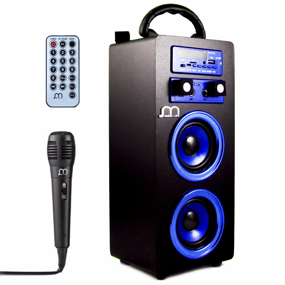 Bluetooth Speaker Karaoke with Microphone Portable Wireless USB TF Card Rechargeable with FM Radio large capacity battery bluetooth speaker tf card and usb disk play mp3 subwoofer wireless microphone fm radio portable speaker