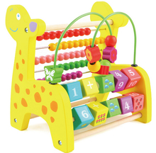 3-in-1 Multifunctional Giraffe Abacus Calculate Bead Frame Wire Maze Kids Children Wooden Math Toy Educational Toys Wholesale
