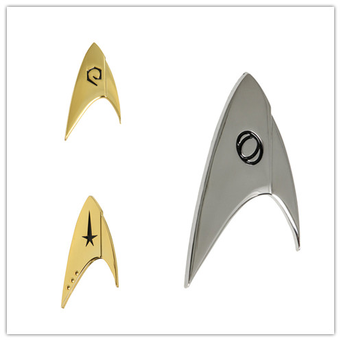 For Star Trek Discovery Cosplay Commander Badge Starfleet Costume Brooches Halloween Uniform Pin Accessories Props Gift 3 Types