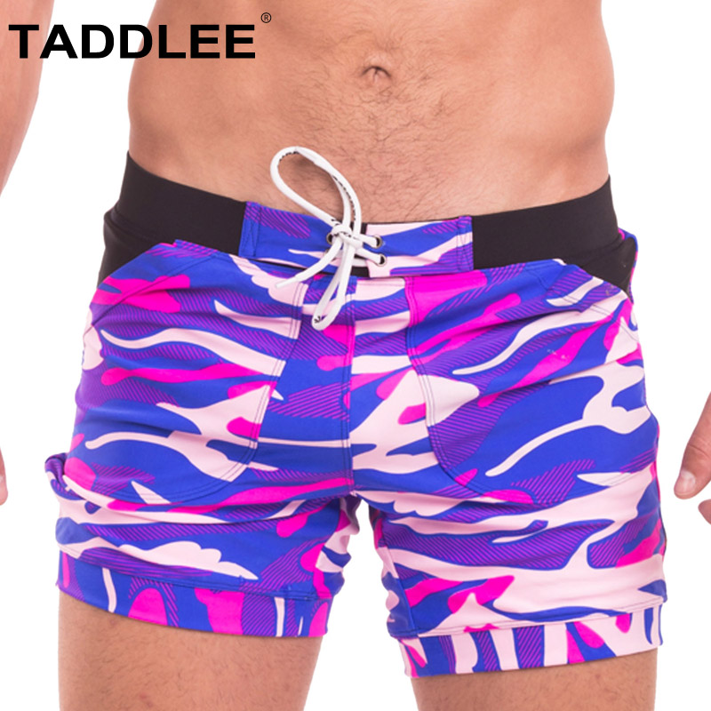 0576000aa0 Taddlee Sexy Men's Swimwear Swimsuits Boxer Briefs Bikini Trunks Gay Camo Plus  Size Board Shorts for Men Pockets