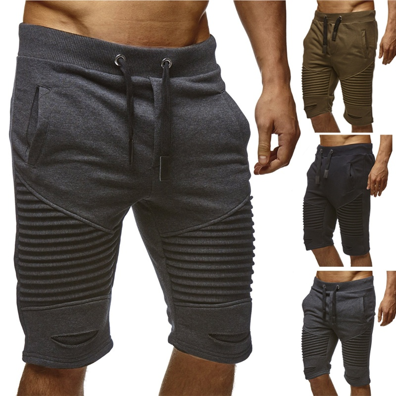 Plus Size 3XL Casual Mens Shorts Summer Fashion Brand Gyms Fitness Shorts Men Professional Bodybuilding Short Pants Black Gray