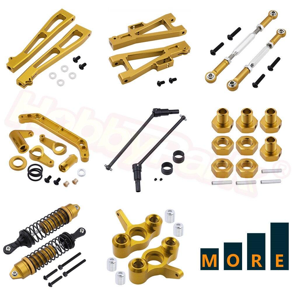 CNC Metal Aluminum Alloy Upgrade Parts For JLB Racing CHEETAH 1/10 RC Car Monster Truck Replacement Gold Yellow