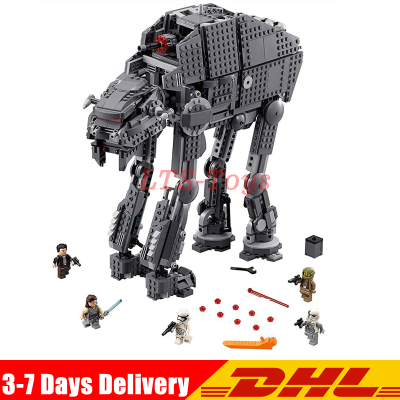 Lepin 05130 The First Order Heavy Assault Walker Set 1541Pcs Star Plan Series Building Blocks Bricks Wars Gifts LegoINGLY 75189