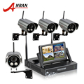 "Plug and Play Wireless 7"" LCD Screen Wifi Surveillance NVR Kit 720P HD Outdoor Waterpfoof Security Camera CCTV System 1TB HDD"