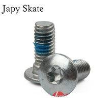Japy skate 2 peças originais powerslide parafusos de montagem prego de powerslide skate bota e quadros para powerslide evo s4