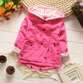 2016 casaco infantil baby coat outwear roupa infantil feminina cute baby jacket infant girl hoody cardigan trench coat wholesale