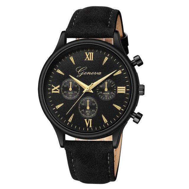 b2ef47e06e1 Moda Mens Relógios 2018 Relógio masculino Relógios de Luxo de Couro Do  Falso Do Vintage Clássicos