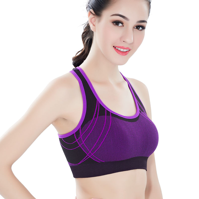 a9c846a6b03a1 BHWYFC Women Sports Brassiere Seamless Sports Bra Yoga Fitness Padded  Running Bra Jogging Vest Cross Back Earthquake Gathering-in Sports Bras  from Sports ...