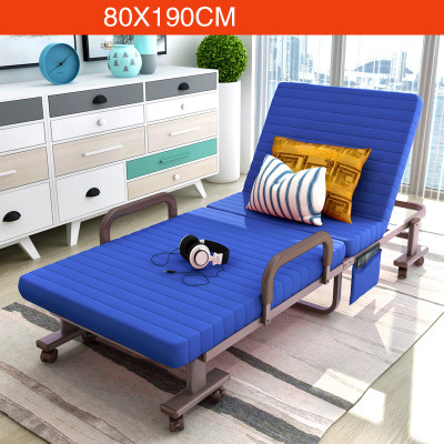 Simple Modern Folding Single Bed Office Living Room Balcony Lazy Noon Break Folding Bed Soft Cotton Fabirc Adjustable Sofa Bed - 5