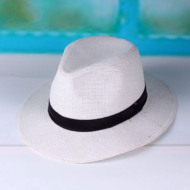 11.11 Hats Straw Panama Hats for Men Summer Womens Sun Hat with Ribbon Band White  Beach Caps Black Chapeu Feminino 5211e89d24a