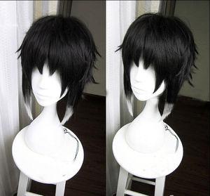 Image 1 - Bungo Stray Dogs Ryuunosuke Ryunosuke Akutagawa Wigs Black White Heat Resistant Syntehtic Hair Cosplay Wig
